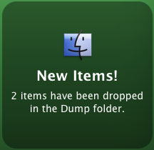 Alert that notifies me of new files placed in a folder